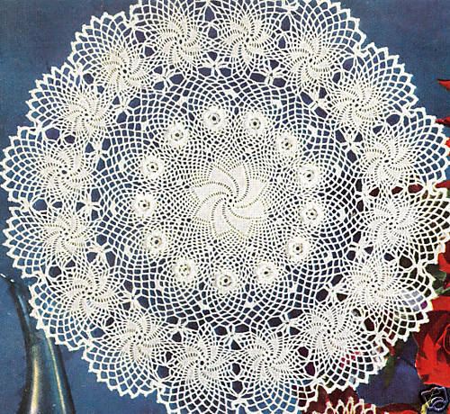 Free Vintage Irish Crochet Patterns : Vintage Crochet PATTERN to make Doily Erin Irish Rose ...