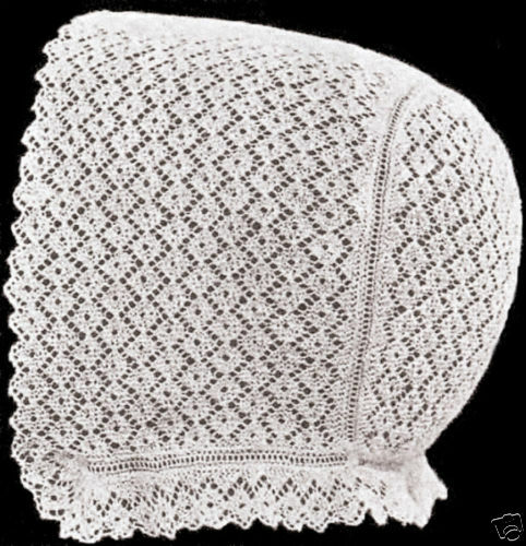 Vintage Antique Baby Cap Hat Bonnet Knitting Pattern P eBay
