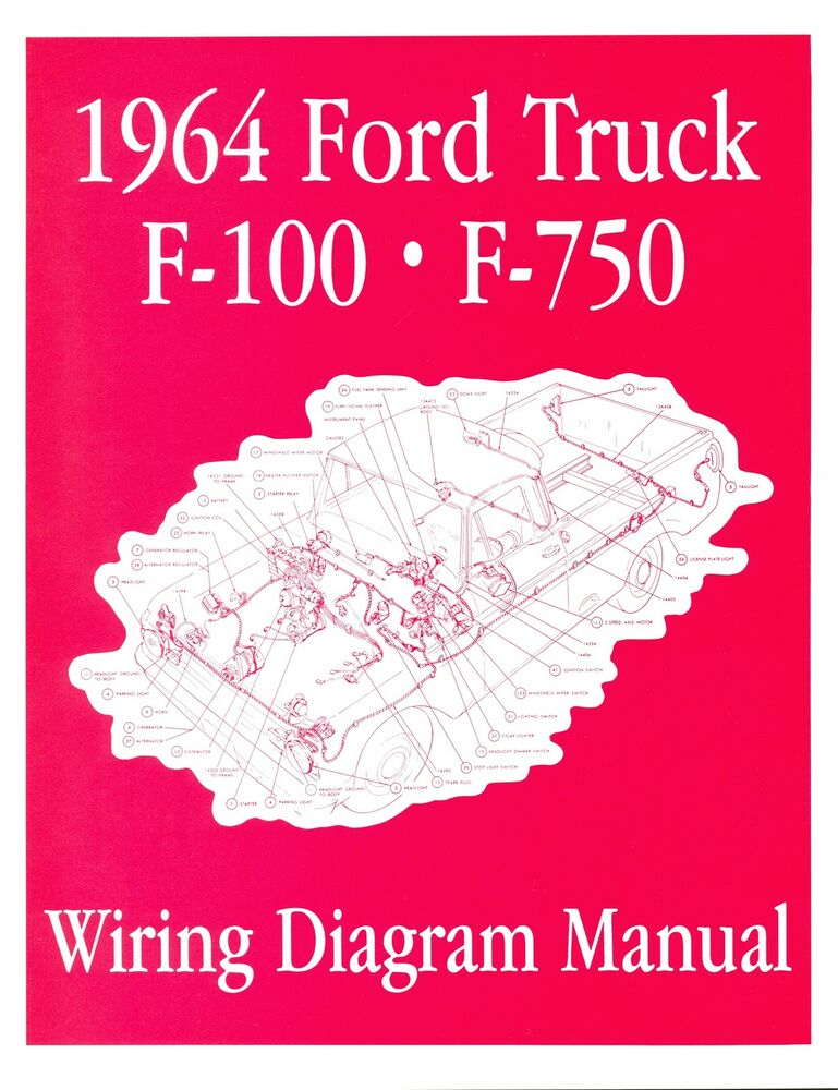 1964 ford f100 f750 truck wiring manual ebay. Black Bedroom Furniture Sets. Home Design Ideas