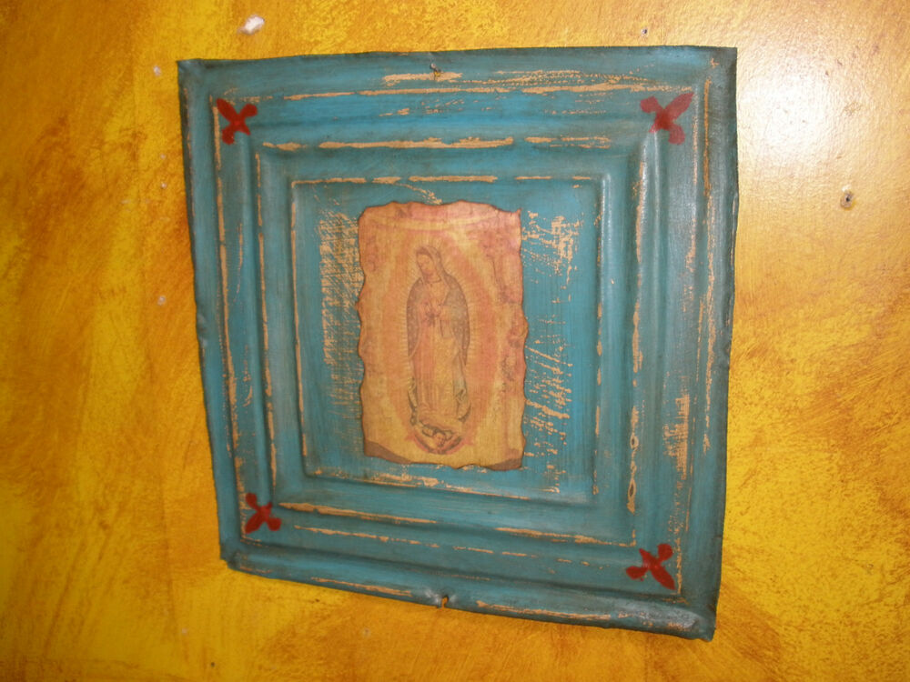 Antique Ceiling Tin Wall Art 8 Religious 12x12 Vintage