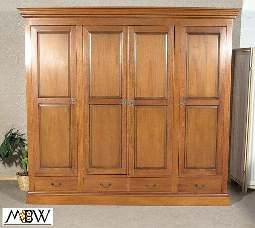 Kitchen Cabinet Tv Cabinet Wordrobe Malaysia: Large Solid Mahogany TV Media Entertainment 4-Door Armoire