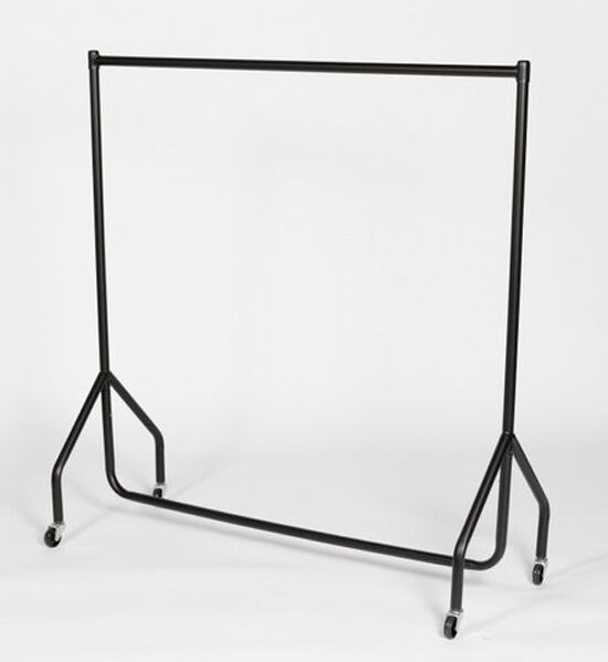 2 x 3ft clothes rail heavy duty hanging garment display ebay. Black Bedroom Furniture Sets. Home Design Ideas