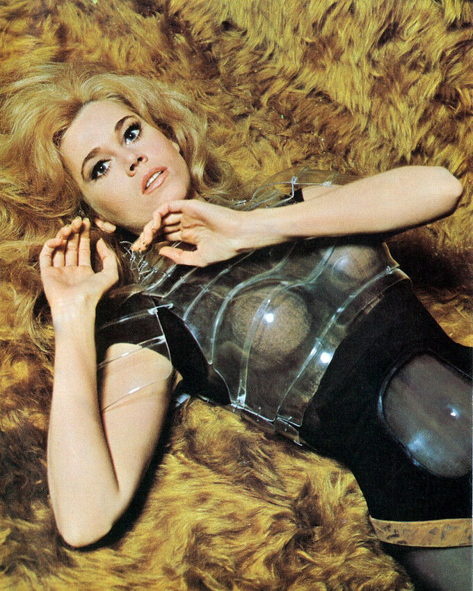 Jane Fonda 8x10 Photo Sexy Barbarella Pose On Fur Rug Ebay