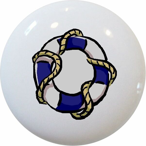 nautical drawer pulls blue nautical preserver cabinet drawer pull knob ebay 29358