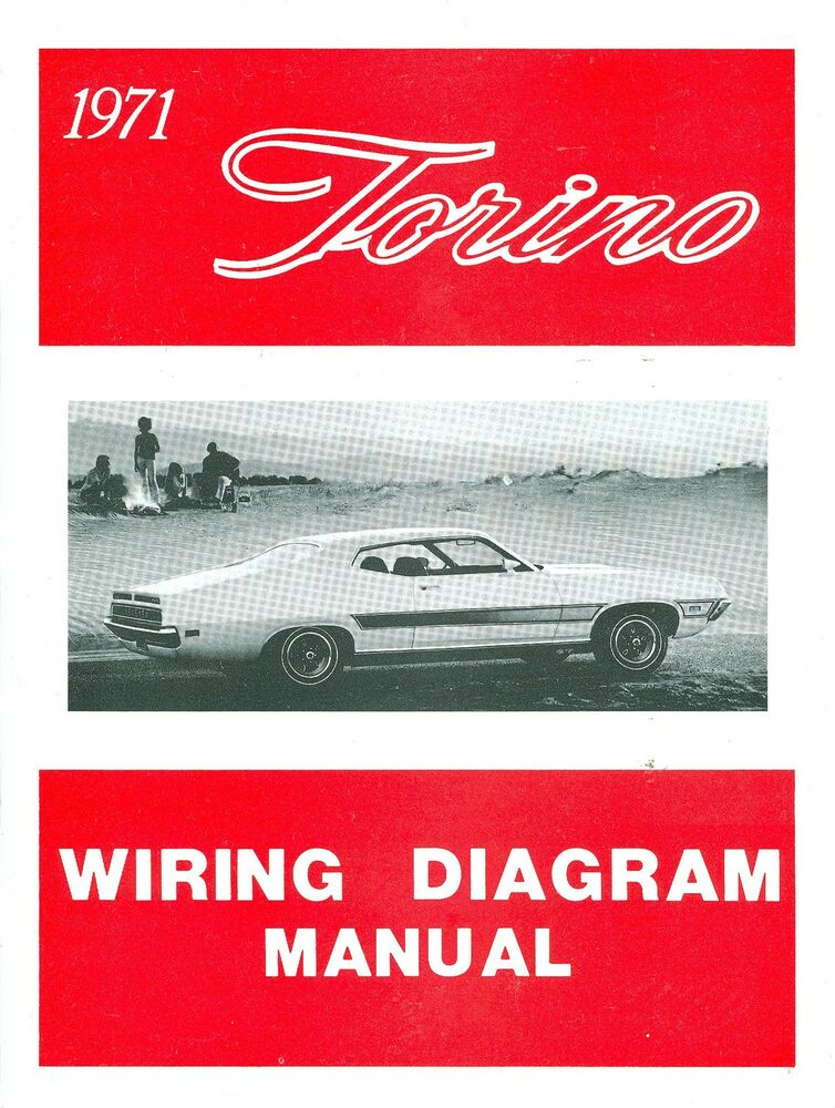 s l1000 1971 71 ford torino wiring diagram manual ebay 1971 ford torino ignition wiring diagram at bayanpartner.co