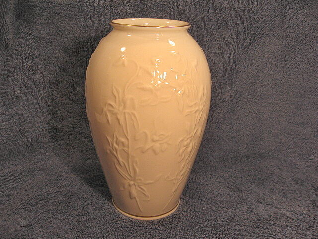 Lenox Porcelain Vase Flower Pattern Gold Trim Usa 7 In Ebay