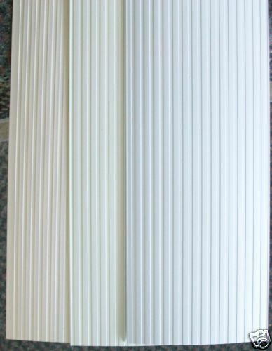 Vertical Blind Replacements Ribbed Ivory Alab White Ebay