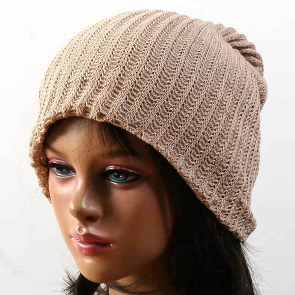 Knitted Scarf Pattern For Beginners : new BEANIE Knit Crochet Rasta hat cap skull JJ BEIGE eBay