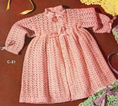 Child s Kimono Knitting Pattern : Vintage Baby Dress Kimono Robe Knitting Pattern Sz. 2/3 eBay