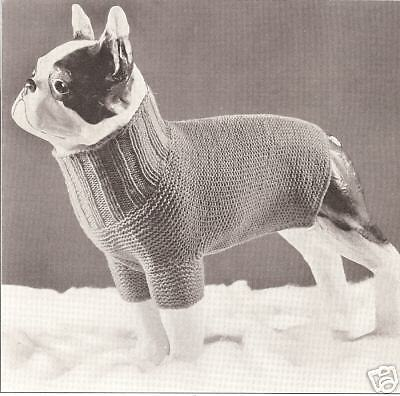 Vintage Antique Knitting Pattern To Make Dog Sweater Coat
