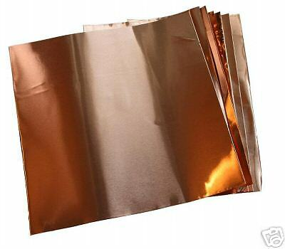 Copper thin foil sheets 1 4 mil 0014 6 x 6 10 ebay for Thin aluminum sheets for crafts