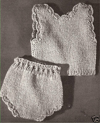 Knitting Ideas For The Home : Vintage knitting pattern to make doll undershirt vest
