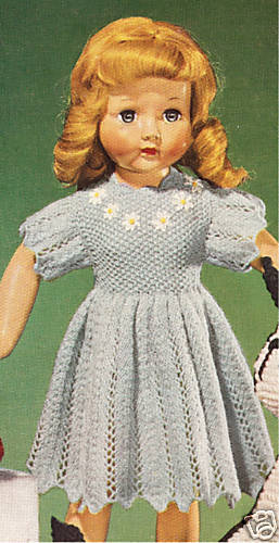 Vintage Knitting Patterns Dolls Clothes : Vintage Knitting PATTERN to make 18