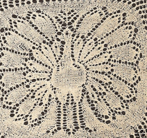 Free Knitting Pattern Lace Doily : Vintage Knitting PATTERN to make Lace Doily Peacock/Turkey ...
