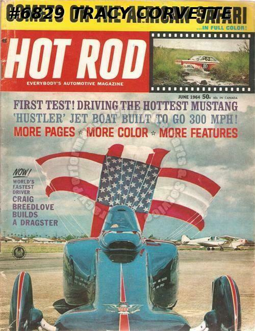 June 1964 Hot Rod Ford S Wildest Mustang 365 Mph W 400 Hp