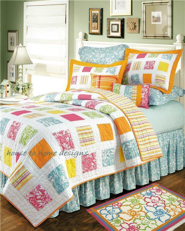 Kauai Twin Quilt Set Hawaiian Tropical Beach House
