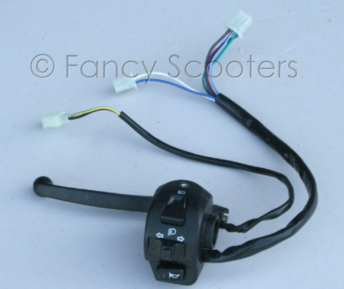 Light Duty Lever Controls : Scooter moped left light switch control brake lever gy ebay