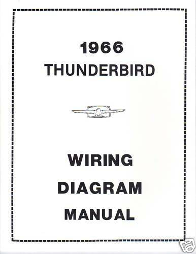 1966 ford thunderbird wiring diagram manual | ebay 1966 thunderbird wiring diagram #8