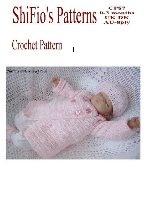 CROCHET PATTERN for BABY BOY GIRL JACKET & BERET #87 By ...