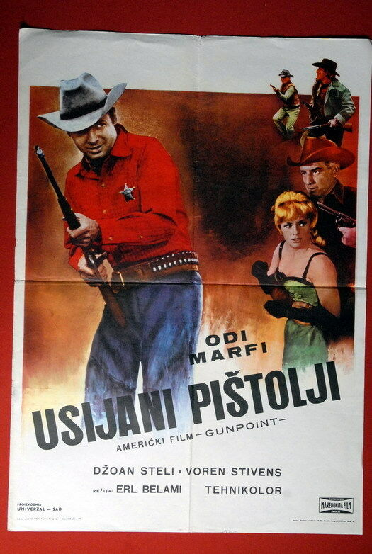 Gunpoint Western Audie Murphy 1966 Exyu Movie Poster Ebay