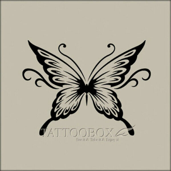 Reusable airbrush stencils templates butterfly 01 a4 for Spray on tattoo stencils