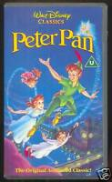 WALT DISNEY CLASSICS - PETER PAN - AUTHENTIC HOLOGRAMS - VHS PAL (UK) VIDEO