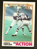 Lawrence Taylor In Action 1982 Topps Card #435