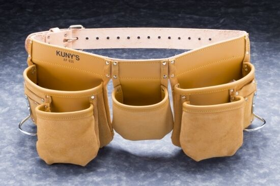 Kunys Carpenters Full Grain Leather 13 Pocket Tool Belt