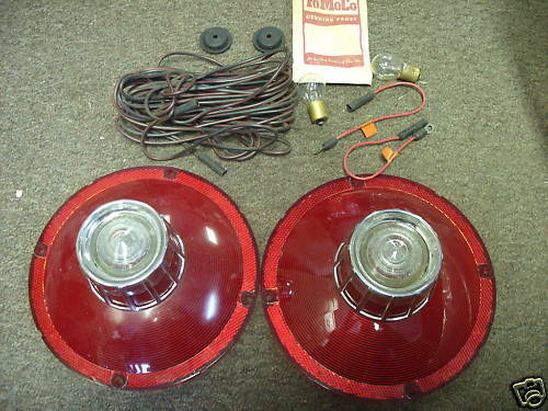Nos 1963 Ford Galaxie Tail Light Lenses  U0026 Wiring