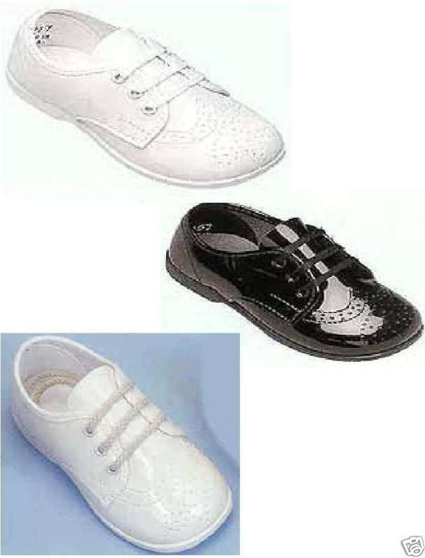 Toddler Black And White Wingtip Shoes