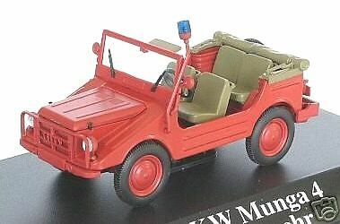 wunderbare modelcar dkw munga 4 feuerwehr 1960 1 43 ebay. Black Bedroom Furniture Sets. Home Design Ideas