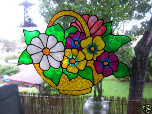 how to make faux stained glass window clings