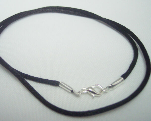 Necklace Cord for Pendant BLACK choose clasp & length G - S Free Shipping