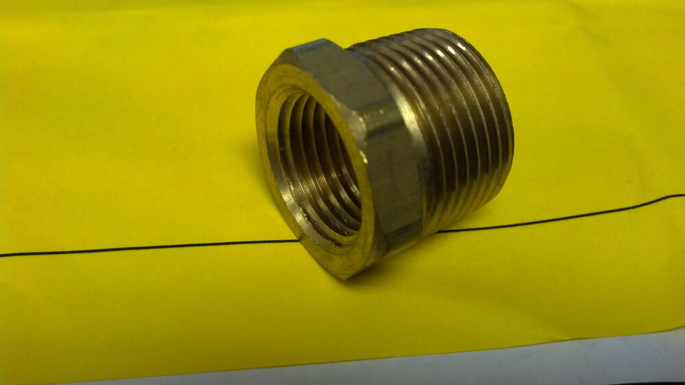 Brass pipe bushing quot mpt fmpt one ebay