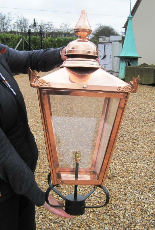 Extra Large Copper Square Antique Garden Outdoor Lantern