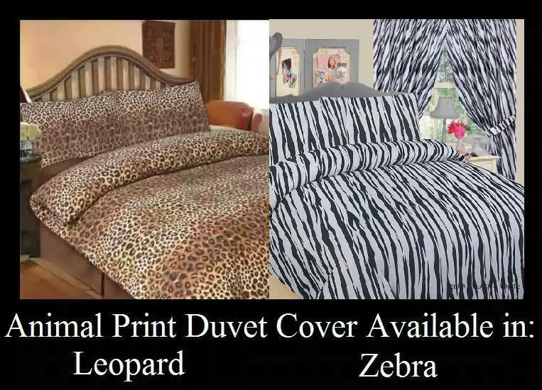 Animal Leopard Zebra Print Duvet Cover Set Ebay