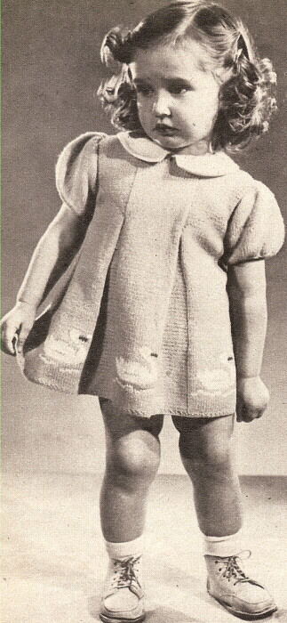 Vintage Knitting PATTERN Baby Toddler Dress 18mos-2 yrs eBay