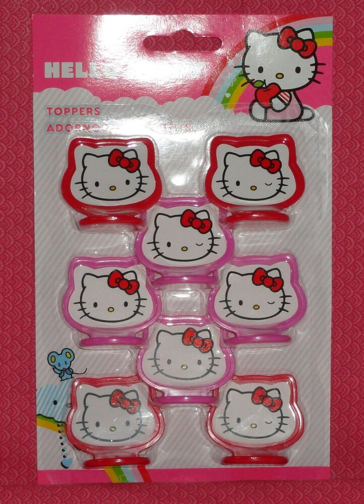 Hello Kitty CupCake Toppers,Plastic,Wilton,2113-7575,Pink ...
