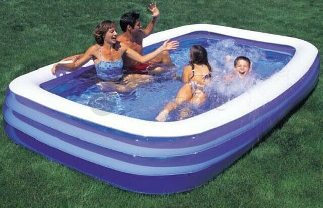 Deluxe Family Swimming Paddling Pool With Electric Pump Ebay