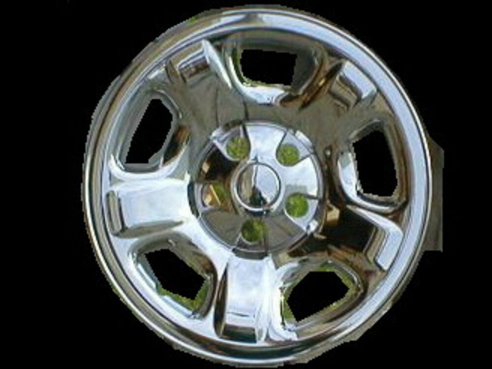 2002 2003 2004 jeep liberty chrome wheel skins 16 ebay. Black Bedroom Furniture Sets. Home Design Ideas