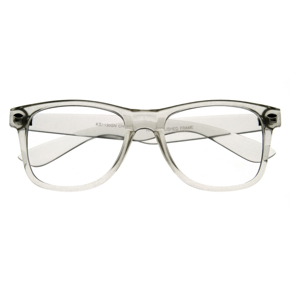 clear lens frame wayfarer glasses 8050 clear ebay