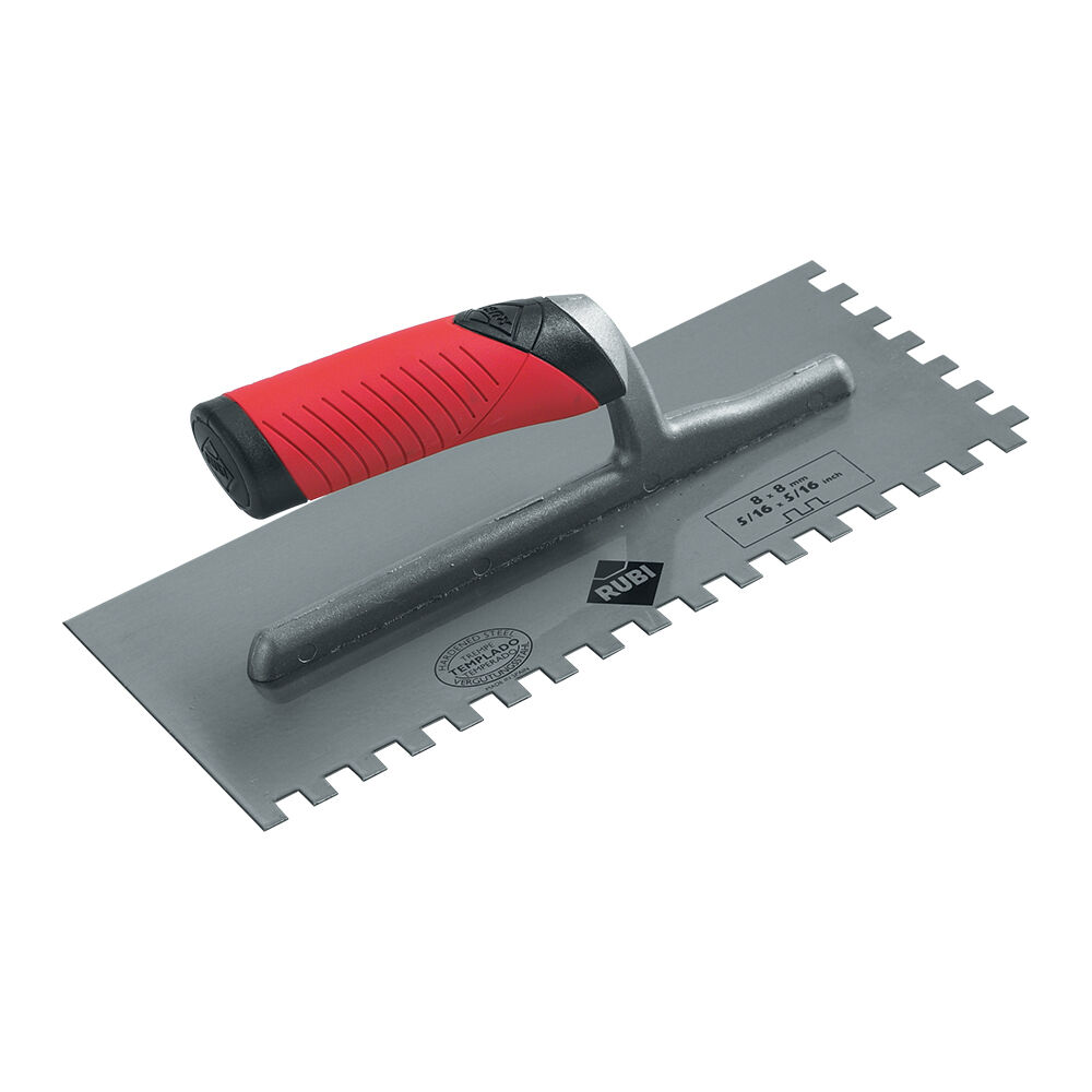 Rubi 3mm Steel Plated Notched Trowel Tiling Tools