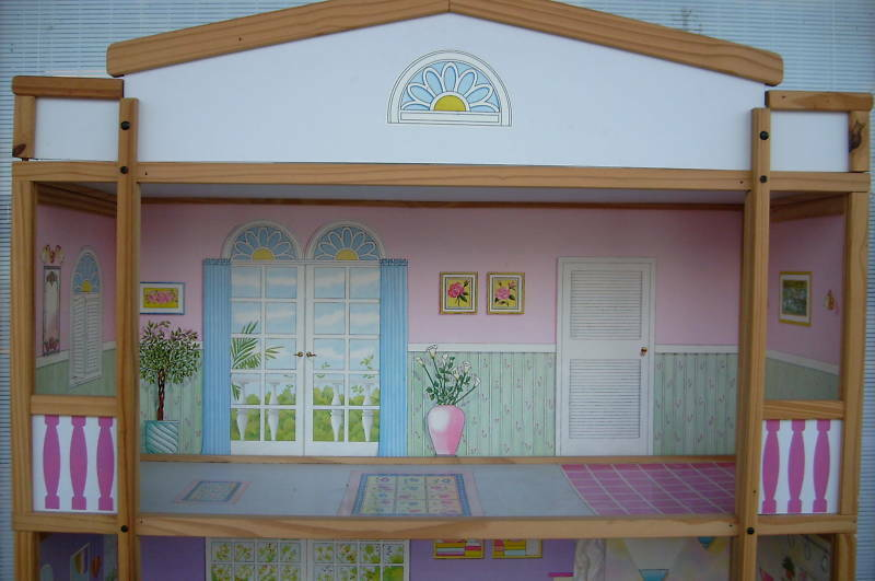 Barbie Doll Size 4 Story Wooden House New In Factory Carton