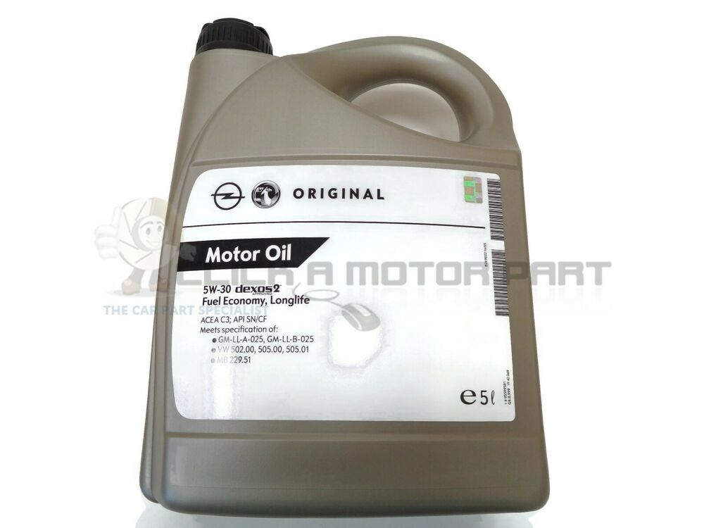 5w30 5lt fully synthetic vauxhall original gm long life for Life of synthetic motor oil