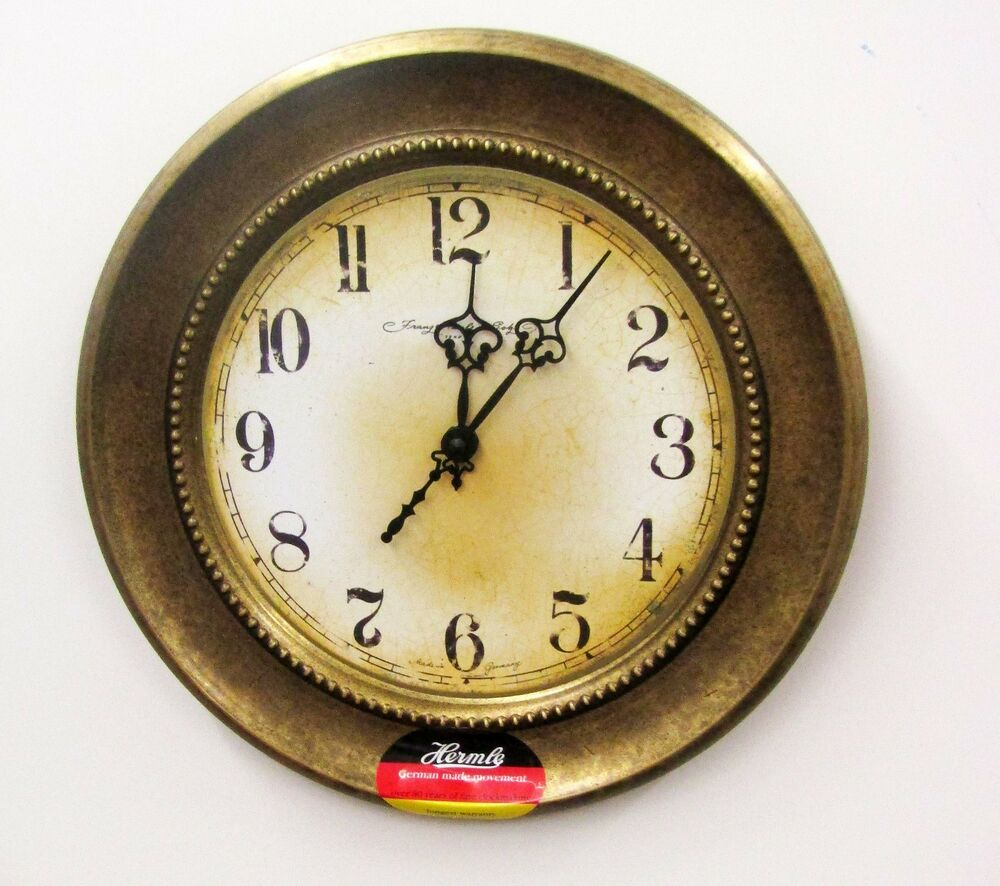 Wall German Made Round Metal Clock 310 30414 Ebay