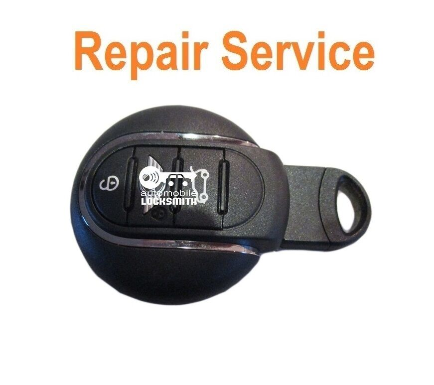 repair service for faulty new mini cooper s 3 button smart remote key fob ebay. Black Bedroom Furniture Sets. Home Design Ideas