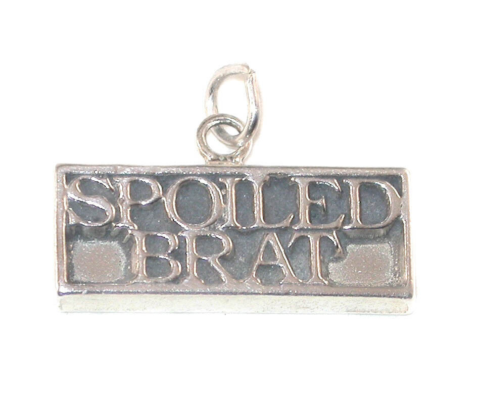 sterling silver word charm spoiled brat ebay