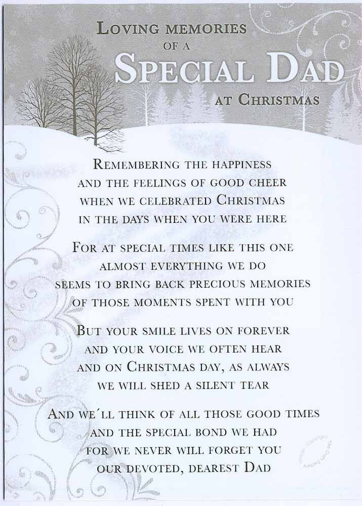 Grave Card Christmas Special Dad Free Holder Cm18