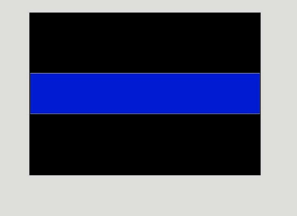ten thin blue line police reflective 3 x 4 decals 10 police blue line decals ebay. Black Bedroom Furniture Sets. Home Design Ideas