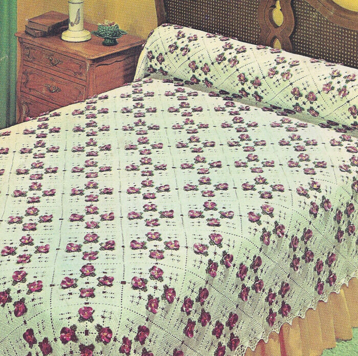 Crochet Motif For Bedspread